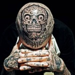 Skull Chicano Head tattoo