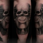 Skull Helmet Graphic tattoo by Led Coult