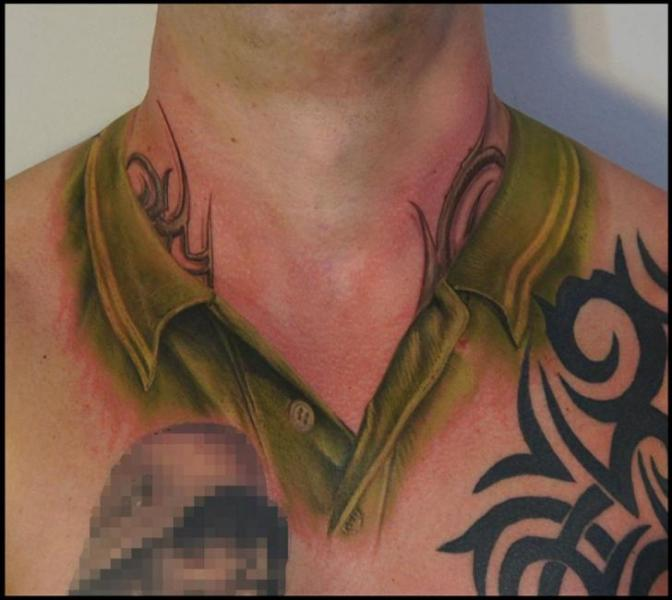 Short Collar Realistic tattoo by White Rabbit Tattoo