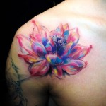 Shoulder Amazing Flower tattoo