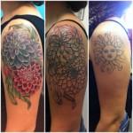Shoulder Flowers Cover Up tattoo design
