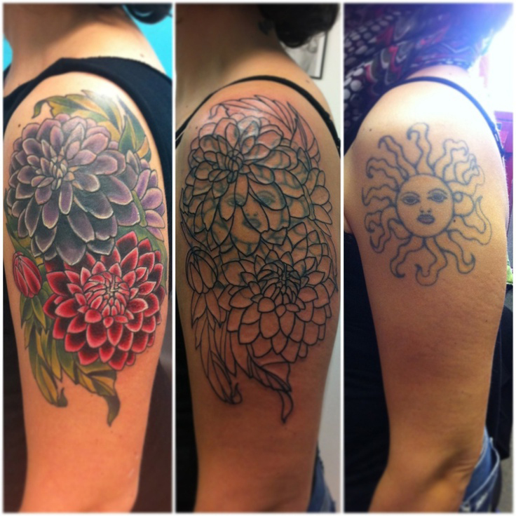 Shoulder Flowers Cover Up Tattoo Design Best Tattoo Ideas Gallery