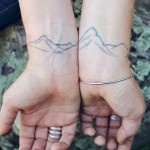 Simple Mountains Couple tattoo