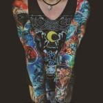 Sinking Ship and Alice tattoo sleeve