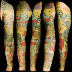 Skeleton Jazz Band tattoo sleeve