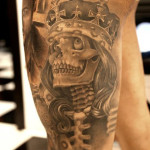 Skeleton King Chicano tattoo