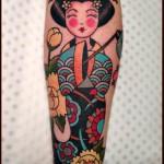 Smiling Geisha tattoo by Chapel tattoo