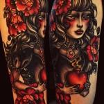 Spell Whitch New School tattoo idea