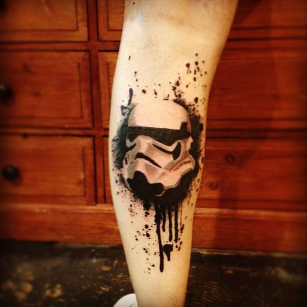 Star Wars Trooper Helmet Trash Polka tattoo