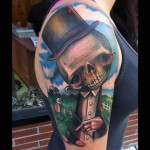Strange Head Gentleman Abstract tattoo by Johnny Smith Art