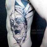 Suffering Man Abstract tattoo by Jan Mràz