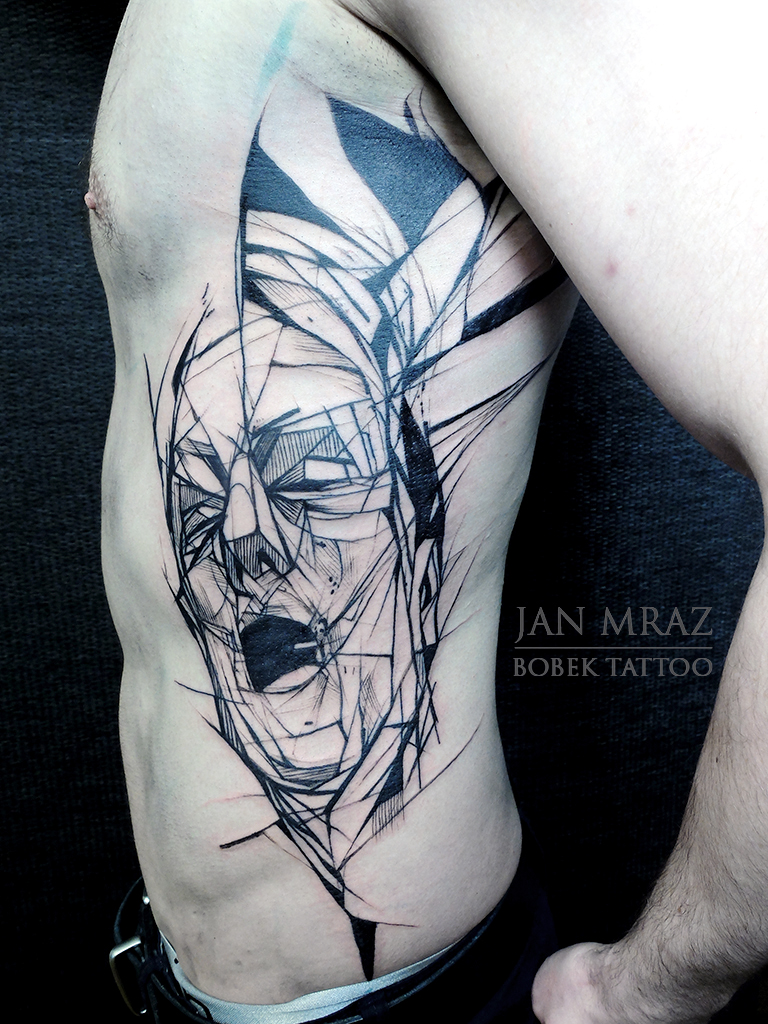 Suffering Man Abstract tattoo by Jan Mràz