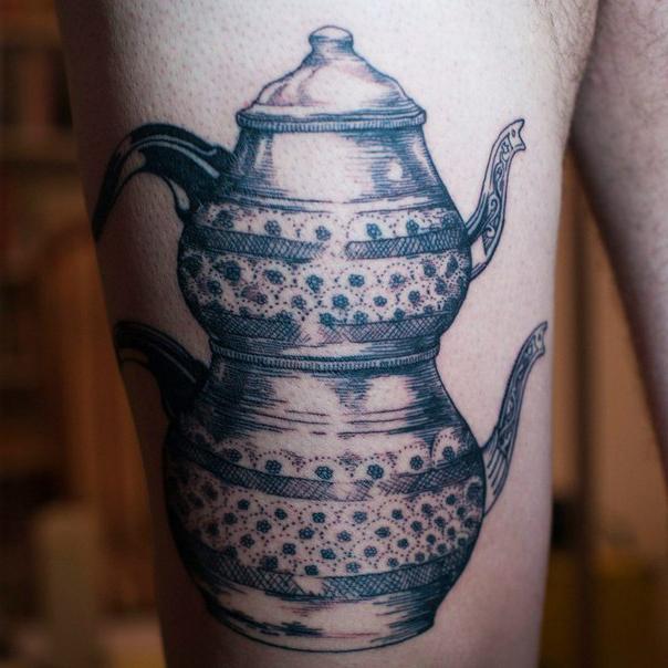 Tea Pot Graphic tattoo idea