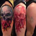 Tentackle Skull Cover Up tattoo
