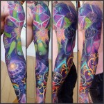 Third Eye to Space tattoo sleeve