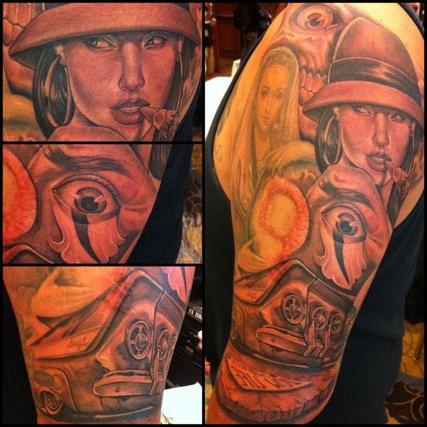 Thug Life Chicano tattoo