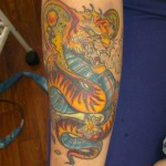 Tiger Cobra New School tattoo