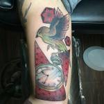Time Flies tattoo by Last Angels Tattoo