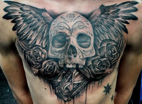 Time to Die Scull Chicano tattoo