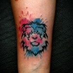 Tiny Lion Aquarelle tattoo by Mad-art Tattoo