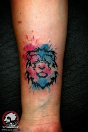 Tiny Lion Aquarelle tattoo by Mad-art Tattoo