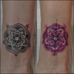 Tiny Mandala Cover Up tattoo