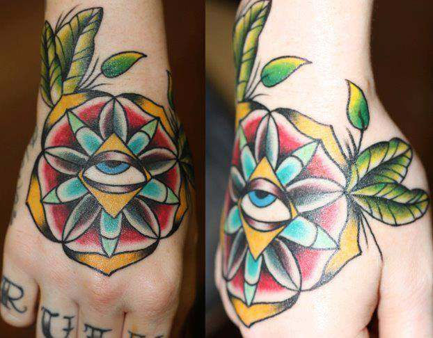 Tired Eye Old School tattoo by Last Angels Tattoo