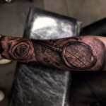 Travel for Love Realistic tattoo by Drew Apicture