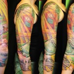 Travel to Peace tattoo sleeve