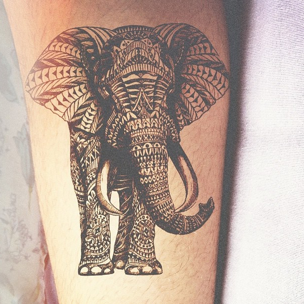 Tribal Inked Elephant Tribal tattoo
