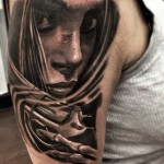 Trigger Death Chicano tattoo