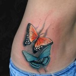 Two Butterflies tattoo by Black Ink Studio