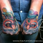 Two Foxes New School tattoo by The Art of London