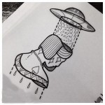 UFO Hat tattoo sketch