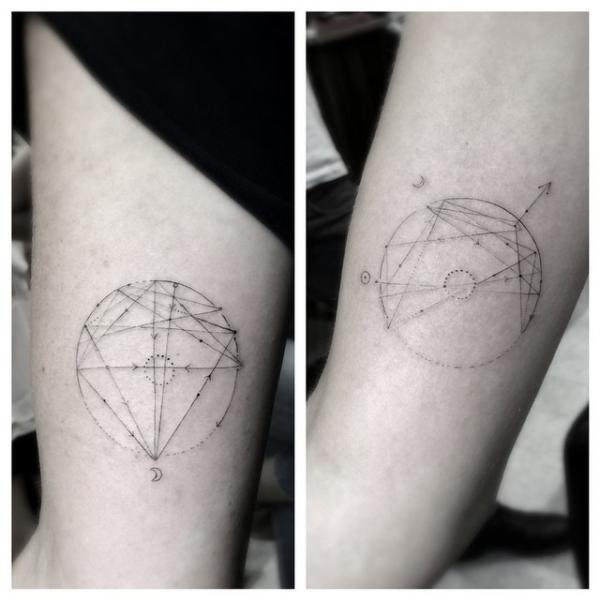 Vector Circle Arrows tattoo by Dr Woo