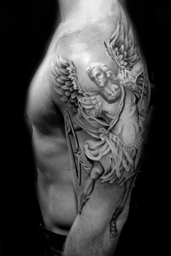 Warrior Angel Religious tattoo by Westfall Tattoo
