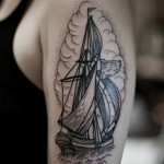 White Sails Graphic tattoo idea