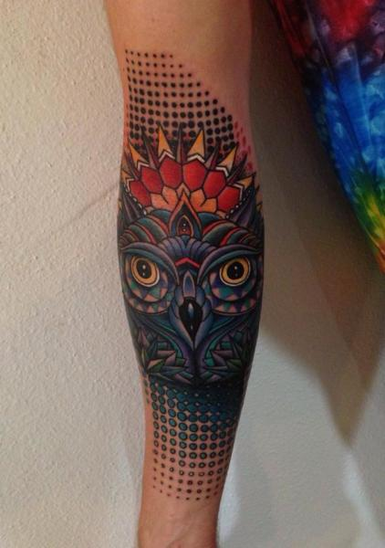 Wol Big Dots New School tattoo by Corey Divine