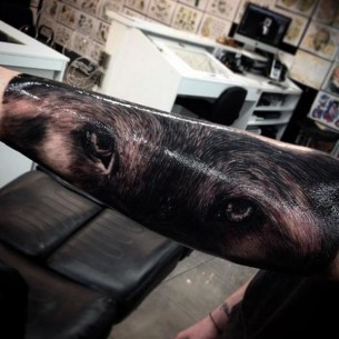 Wolf Eyes Realistic tattoo by Drew Apicture