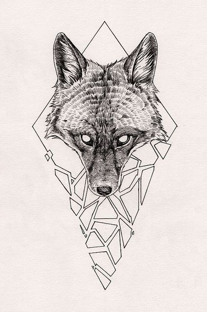Wolf Head tattoo sketch