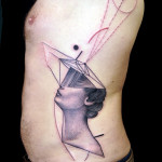 Women Head Abstract tattoo by Jan Mràz