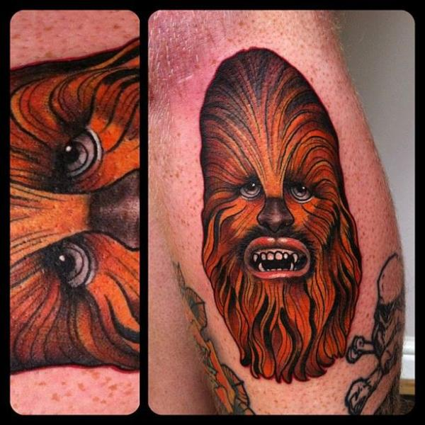 Wooki Star Wars tattoo by Marked For Life