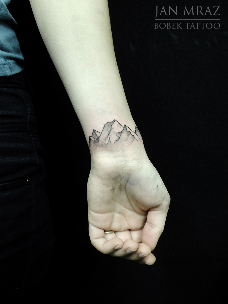 Wrist Mountains tattoo by Jan Mràz