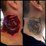neck Rose Cover Up tattoo design