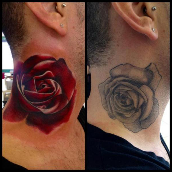 neck rose cover up tattoo design best tattoo ideas gallery. Black Bedroom Furniture Sets. Home Design Ideas