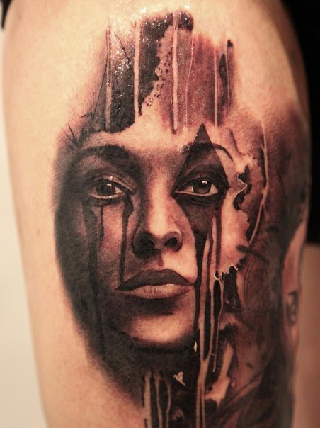 Flowed Make up Chicano tattoo