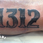 1312 Lettering tattoo by Elda Bernardes