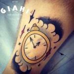 Arrows Time Clock tattoo by Elda Bernardes
