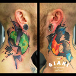 96 Neck tattoo by Live Two