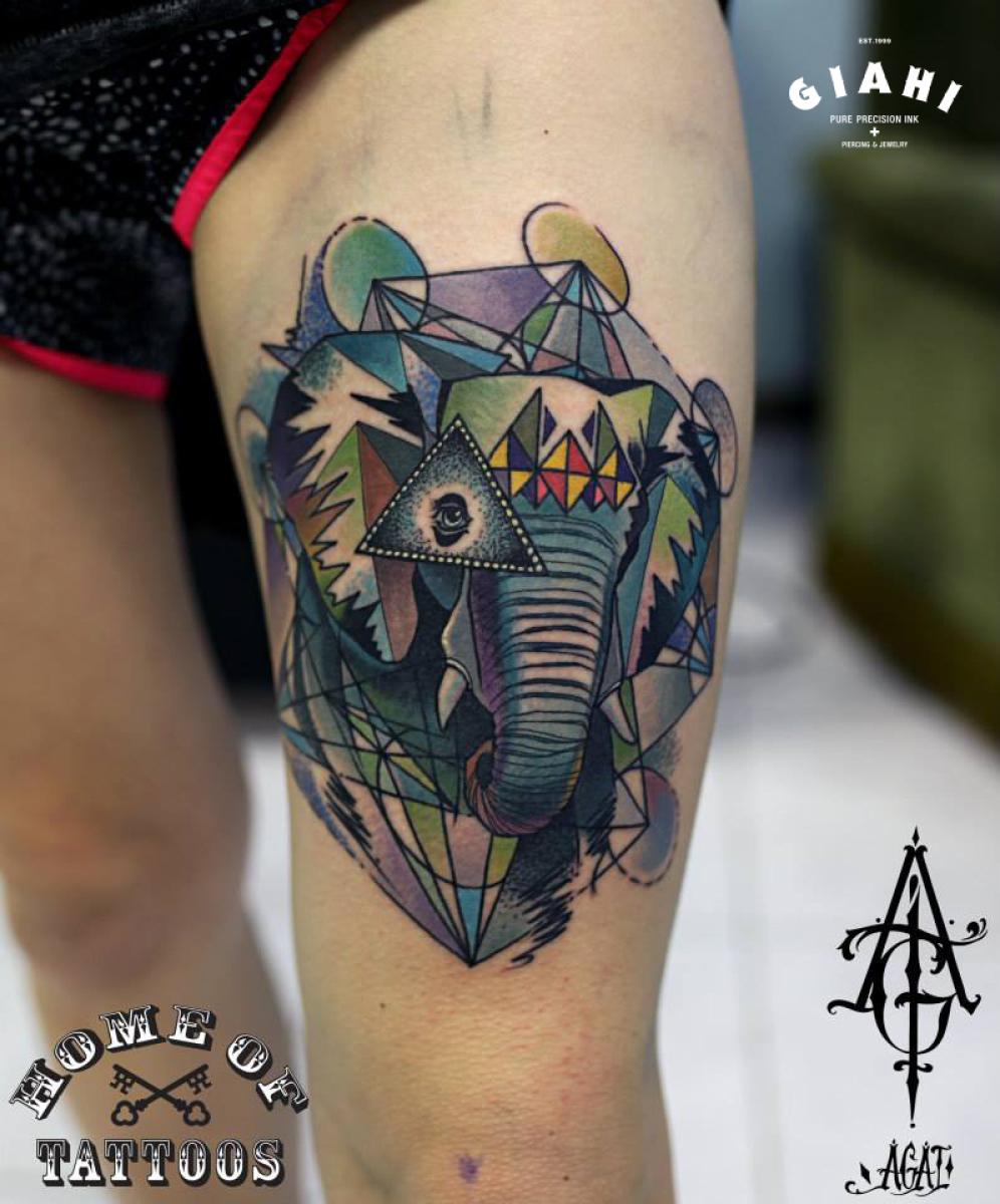 abstract elephant tattoo by agat artemji best tattoo ideas gallery rh dubuddha org elephant tattoo abstract small abstract elephant tattoo